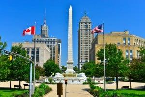 Center of Buffalo, NY